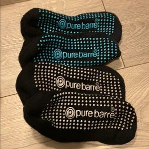 Two sets Pure barre socks